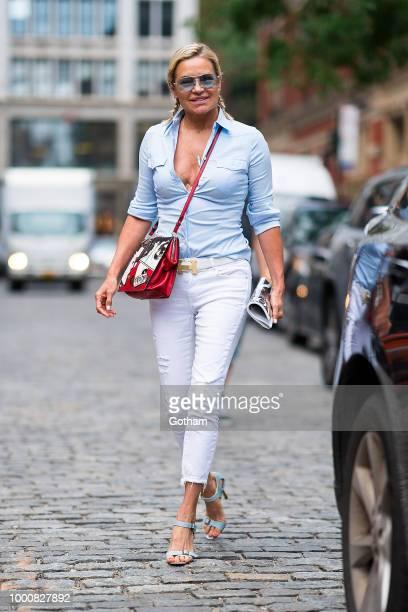 Yolanda Hadid is seen in NoHo on July 17 2018 in New York City
