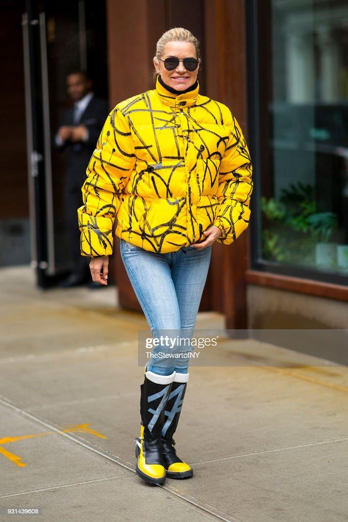 Yolanda Hadid is seen in NoHo on March 13, 2018 in New York City.