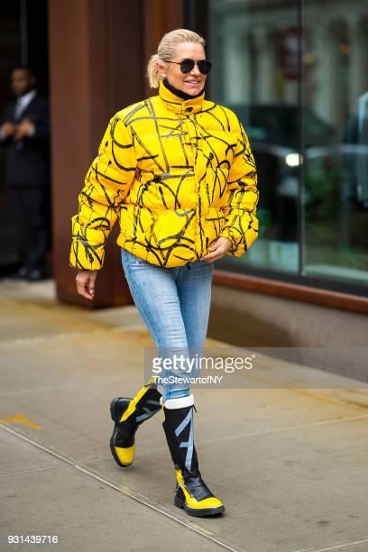 Yolanda Hadid is seen in NoHo on March 13 2018 in New York City