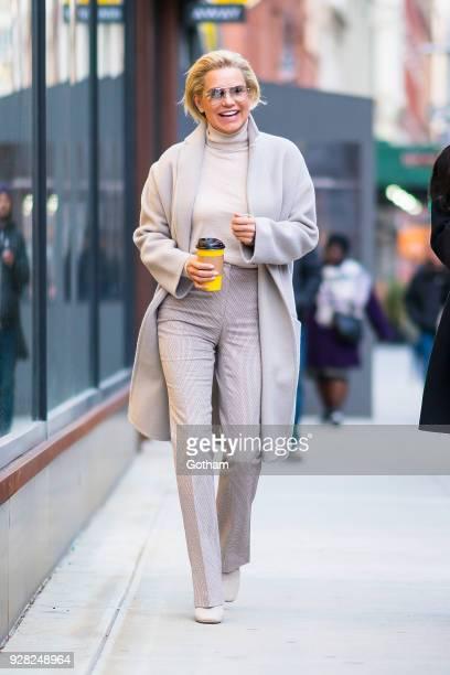 Yolanda Hadid is seen in NoHo on March 6 2018 in New York City