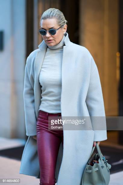 Yolanda Hadid is seen in Tribeca on February 5 2018 in New York City