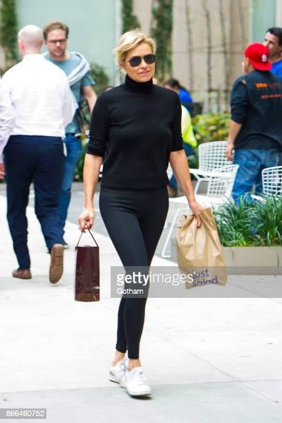 Yolanda Hadid is seen in Tribeca on October 25 2017 in New York City