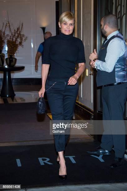 Yolanda Hadid is seen in Tribeca on October 9 2017 in New York City