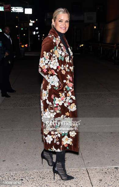 Yolanda Hadid is seen leaving the Marc Jacobs Fall 2020 runway show during New York Fashion Week on February 12, 2020 in New York City.