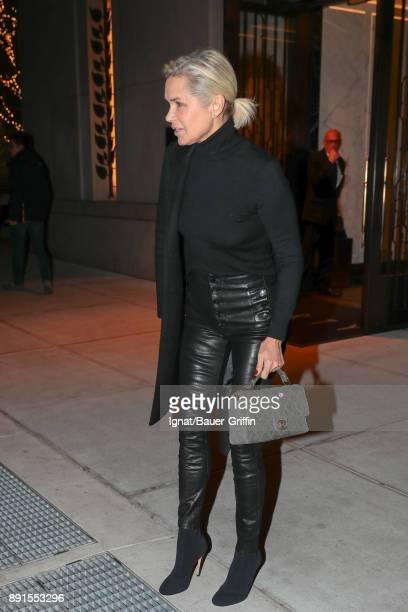 Yolanda Hadid is seen on December 12 2017 in New York City