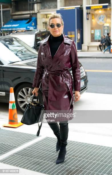 Yolanda Hadid is seen on February 15 2018 in New York City