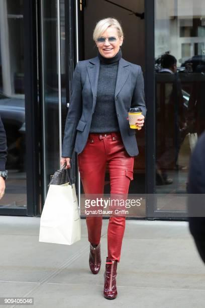Yolanda Hadid is seen on January 23 2018 in New York City