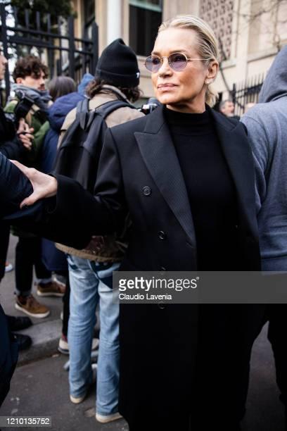 Yolanda Hadid, is seen outside Miu Miu during Paris Fashion Week Womenswear Fall/Winter 2020/2021 on March 03, 2020 in Paris, France.