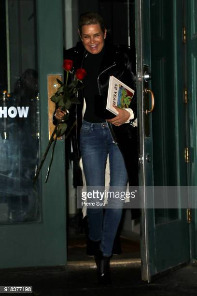 Yolanda Hadid leaves a Mr Chow restaurant where she had a Valentine's Day dinner on February 14 2018 in New York City