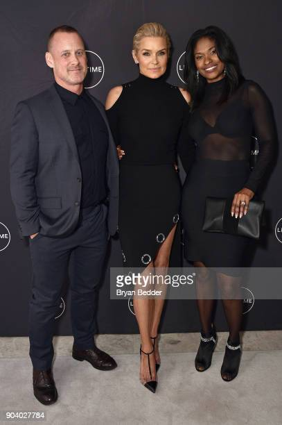 Yolanda Hadid Michael Rourke and Mioshi Hill celebrate her birthday and the premiere of her new Lifetime show 'Making A Model With Yolanda Hadid'...