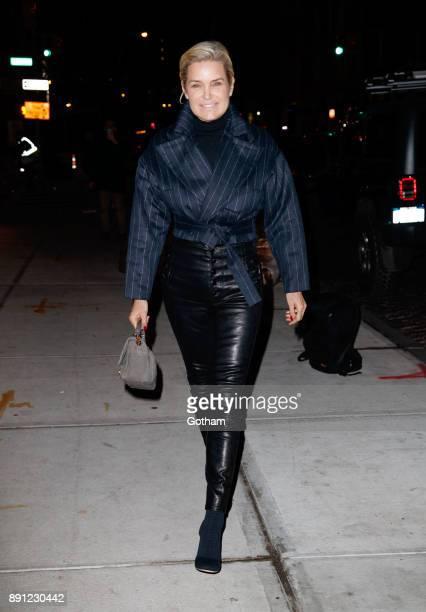Yolanda Hadid seen on December 12 2017 in New York City