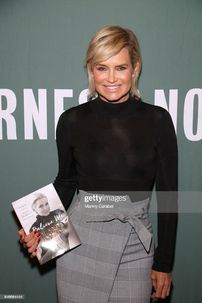 Yolanda Hadid signs copies of 'Believe Me: My Battle with the Invisible Disability of Lyme Disease' at Barnes & Noble Tribeca on September 13, 2017 in New York City.