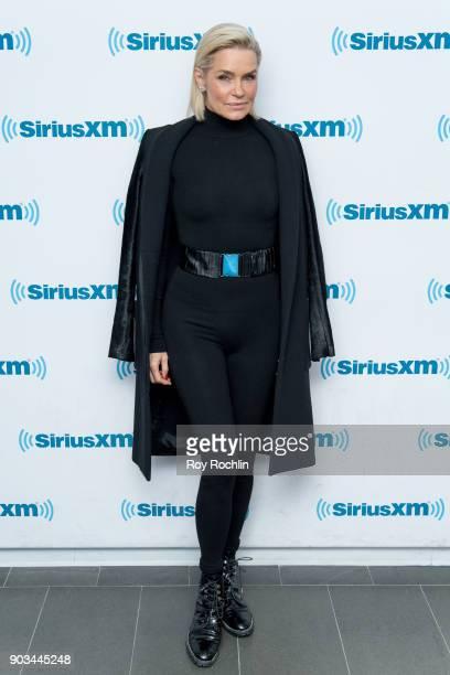 Yolanda Hadid visits SiriusXM at SiriusXM Studios on January 10 2018 in New York City