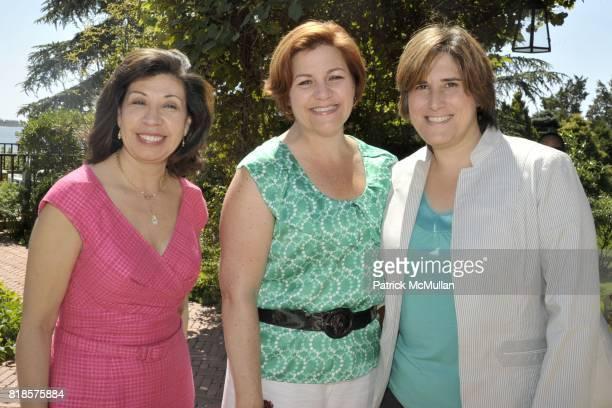 Yolanda Jiminez, Christine Quinn and Kim Catullo attend Halle Berry, Ronald Perelman and REVLON host a luncheon for The JENESSE CENTER at Private...