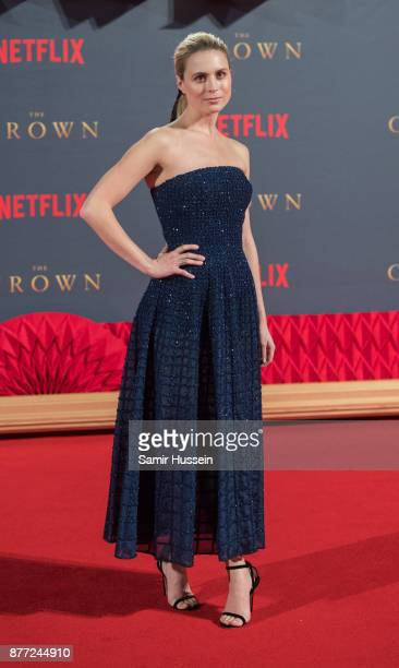 Yolanda Kettle attends the World Premiere of season 2 of Netflix 'The Crown' at Odeon Leicester Square on November 21 2017 in London England