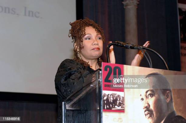 Yolanda King during Salute to Greatness Awards Dinner 20th Anniversary Holiday Observance at King Center in Atlanta Georgia United States