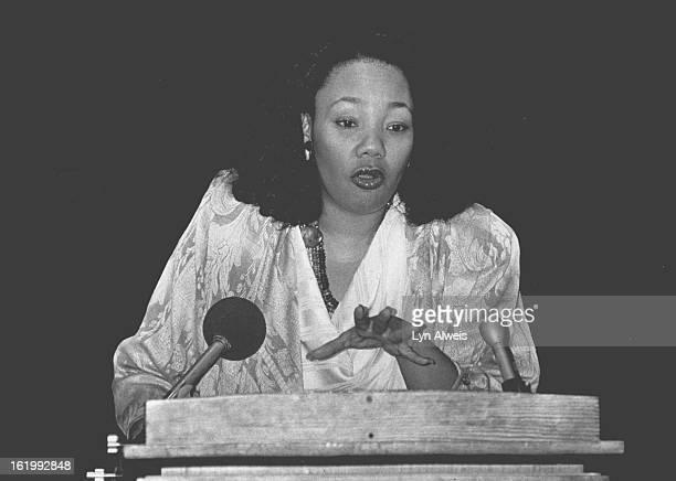 1101988 JAN 11 1988 DEC 9 1990 JUL 21 1993 OCT 4 1993 OCT 22 1993 Yolanda King speaks at CU Denver