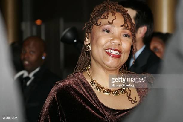 Yolanda King talks to the media at the National Dream Gala to celebrate the Martin Luther King Jr Memorial groundbreaking November 13 2006 in...
