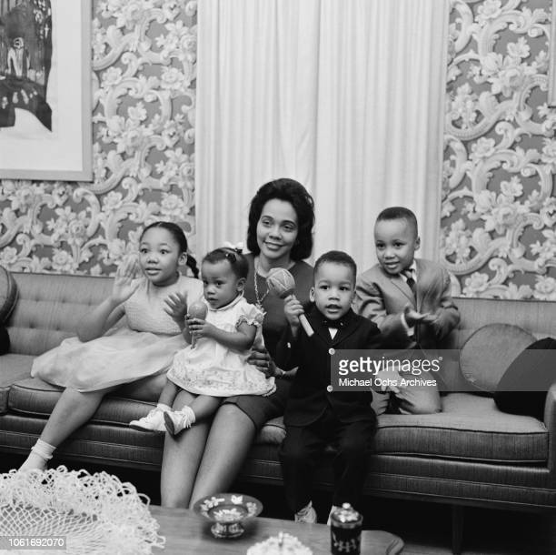 Yolanda Martin Luther King III Dexter and Bernice the children of civil rights activist Martin Luther King Jr with their mother Coretta Scott King...