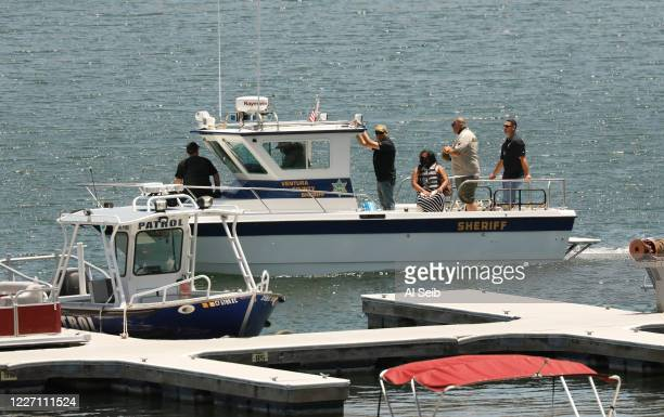 Yolanda Rivera Mother of Naya Rivera is taken out on a boat Monday afternoon to visit the site where her daughters body was found in Lake Piru after...