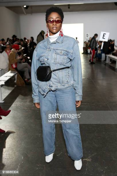 Yolande Macon attends the Helen Anthony fashion show during New York Fashion Week The Shows at Industria Studios on February 10 2018 in New York City