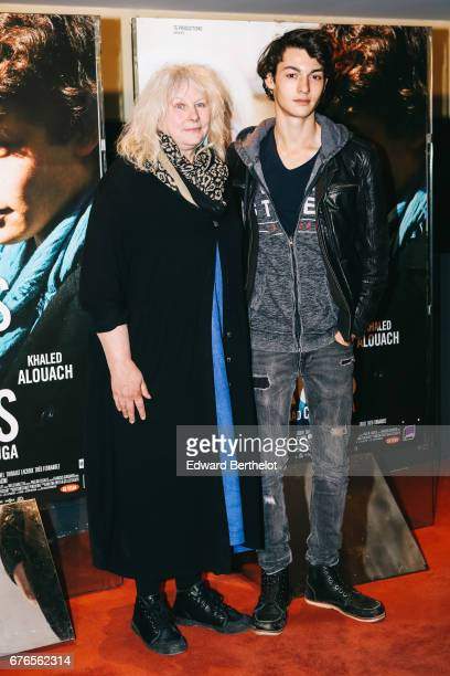 Yolande Moreau and Khaled Alouach during the 'De Toutes Mes Forces' Paris Premiere photocall at UGC Cine Cite des Halles on May 2 2017 in Paris France