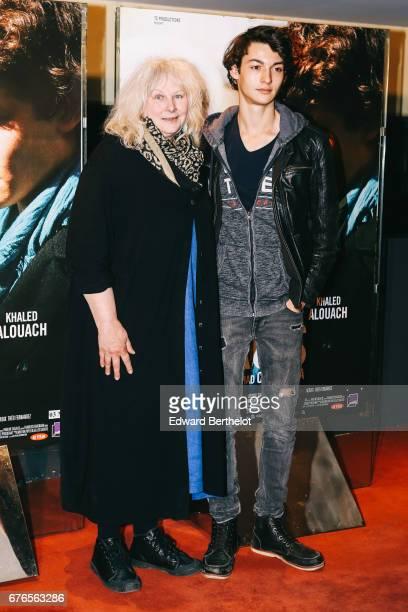Yolande Moreau and Khaled Alouach during the 'De Toutes Mes Forces' Paris Premiere photocall at UGC Cine Cite des Halles on May 2 2017 in Paris France