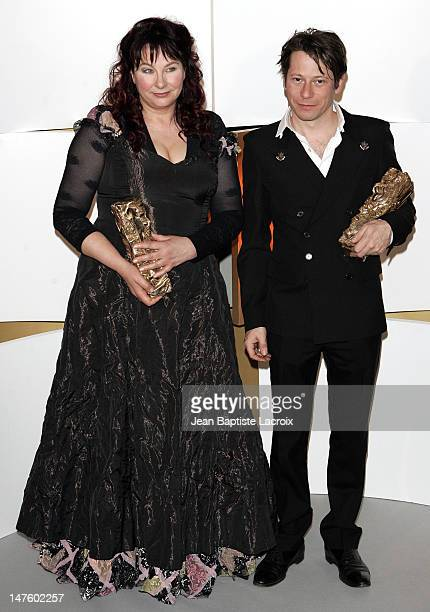 Yolande Moreau winner of the Best Actress Ceasr and Mathieu Amalric winner of the Best Actor Cesar