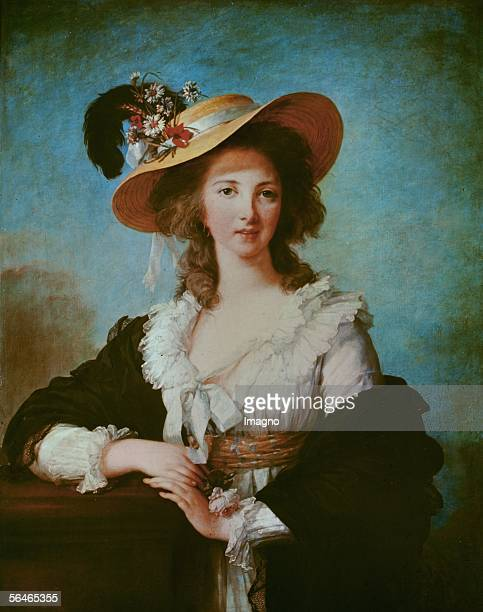 Yolande Polignac duchess friend of Marie Antoinette The Polignacs left France immeditely after the fall of the Bastille Canvas from ElisabethLouise...
