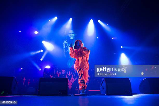 YoLandi Vi$$er and Ninja of Die Antwoord perform on stage at O2 Academy on January 14 2015 in Glasgow United Kingdom