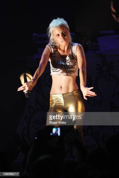 YoLandi Vi$$er of Die Antwoord performs onstage at Gramercy Theatre on October 29 2010 in New York City