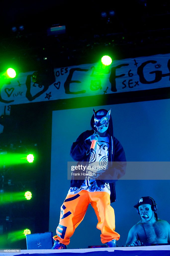 Yolandi Visser and DJ Hi-Tek of Die Antwoord perform live