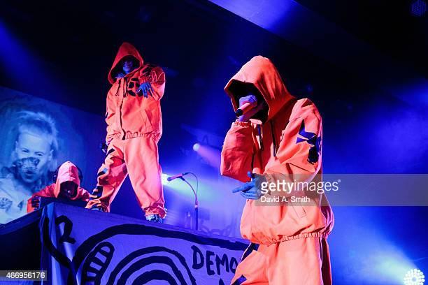 Yolandi Visser and Ninja of Die Antwoord perform at Iron City on March 19 2015 in Birmingham Alabama