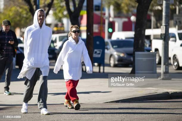 Yolandi Visser and Watkin Tudor Jones of Die Antwoord are seen on December 16 2019 in Los Angeles California
