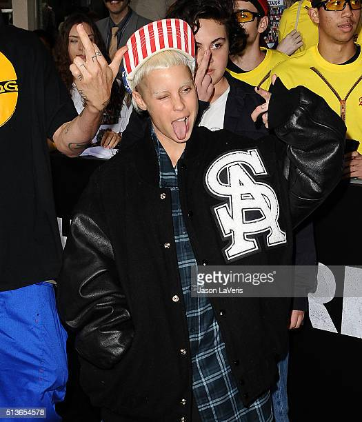 Yolandi Visser of Die Antwoord attends the premiere of 'The Brothers Grimsby' at Regency Village Theatre on March 3 2016 in Westwood California