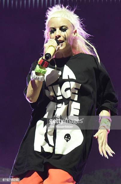 Yolandi Visser of Die Antwoord performs during the 2016 Voodoo Music Arts Experience at City Park on October 29 2016 in New Orleans Louisiana