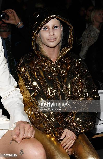 YoLandi Visser of the hiphop group Die Antwoord attends the Alexander Wang fall 2012 fashion show at Pier 94 on February 11 2012 in New York City