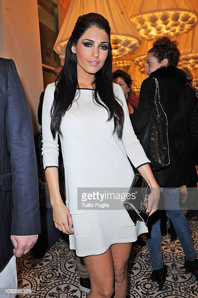 Yolanthe Sneijder Cabau attends the Twin Set Cocktail Party as part of Milan Fashion Week Womenswear A/W 2011 on February 23, 2011 in Milan, Italy.