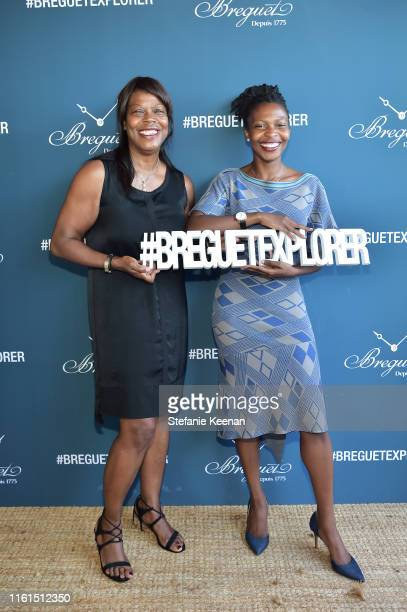 Yolette Hodga and Briana Hodga attend Breguet Marine Collection Launch at Little Beach House Malibu on July 11 2019 in Malibu California