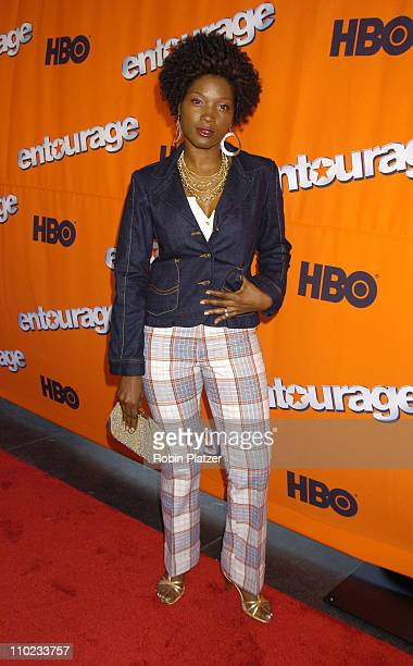 Yolonda Ross during HBO's Entourage Season 2 New York City Premiere Outside Arrivals at The Tent at Lincoln Center Damrosch Park in New York City New...