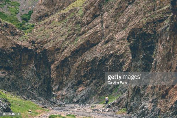 Yolyn Am is a valley with deep and narrow gorge within the Gurvan Saikhan mountains in the South of Mongolia.