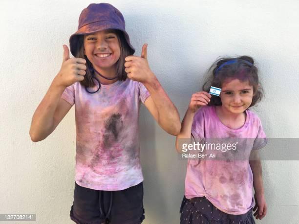 yom ha'atzmaut - israeli independence day - rafael ben ari stock-fotos und bilder