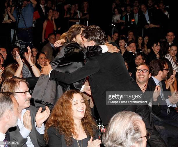 Yon Gonzalez and Aitor Luna attend Fotogramas Awards at Joy Eslava Nightclub on March 12, 2012 in Madrid, Spain.