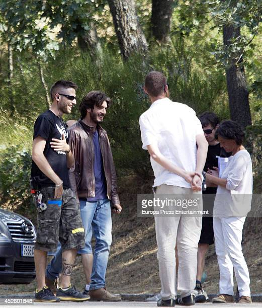 Yon Gonzalez is seen during the filming of 'Bajo sospecha' on July 23 2014 in Madrid Spain