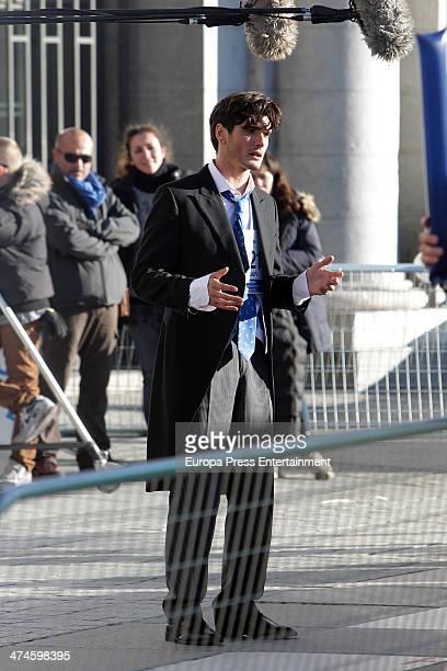Yon Gonzalez is seen on the set of 'Perdiendo el Norte' on February 21 2014 in Madrid Spain