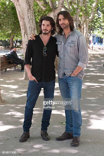 Yon Gonz��lez actors and Aitor Luna presentation of the movie quotKilling timequot on May 27 2015 in the square of Spain in Madrid