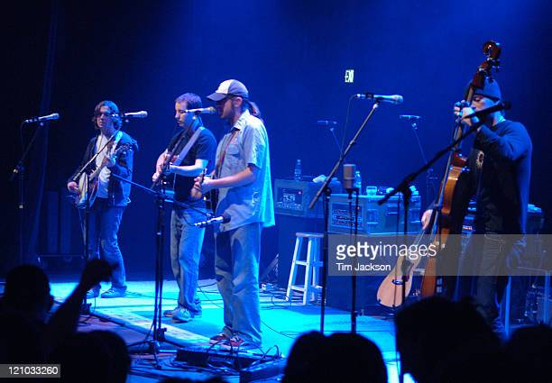 Yonder Mountain String Band during Mike Doughty Yonder Mtn String Band in Concert at the Boulder Theater April 29 2006 at Boulder Theater in Boulder...