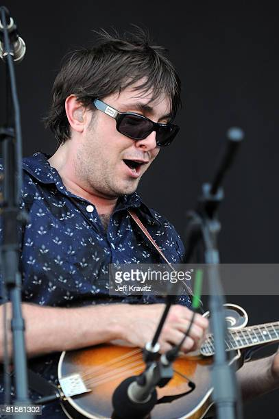 Yonder Mountain String Band perform on stage during Bonnaroo 2008 on June 15 2008 in Manchester Tennessee