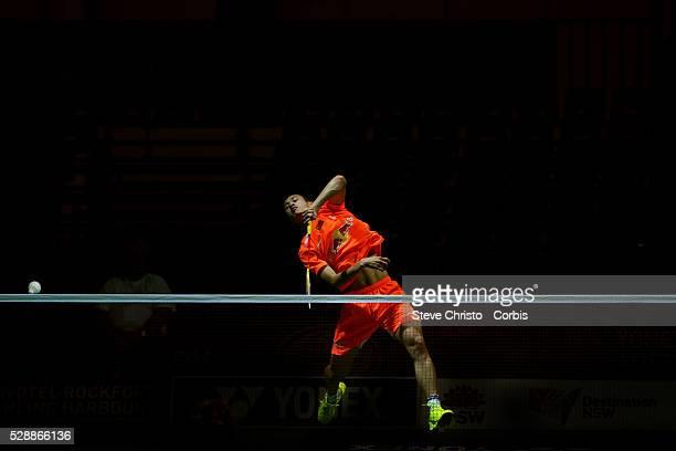 Yonex Australian Badminton Open Sydney 2013. Men's singles qualifying rounds China's Guo Kai v Sung Min Park of Korea at the Convention Centre...