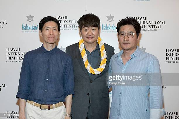 Yong Han Lee Hur JinHo and Won Kuk Kim arrive for the screening of 'The Last Princess' during the 2016 Hawaii International Film Festival at the...